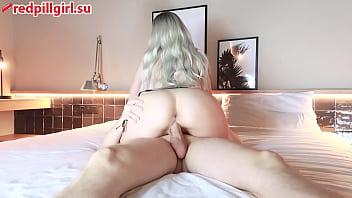sexy big ass blonde reverse cowgirl creampie