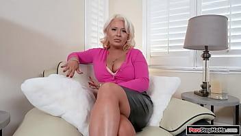 Curvy milf takes her stepsons big cock