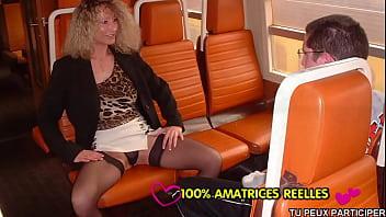 Horny mom with virgin boy in train 7 min