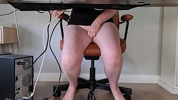 Slutty mom squirts multiple times during zoom meeting 8 min