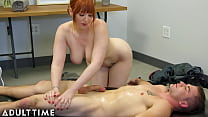 ADULT TIME - Masseuse Swap! Lauren Phillips Takes Over Nuru Massage To Get Pussy Pounded By Stepson