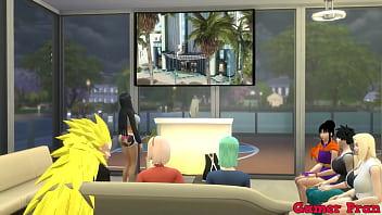Hinata y sus amigas Cap 5 En una reunión viendo una pelicula y al final las chicas le pide a radi hacer un trio y el las complace a las dos 13 min