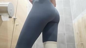 Kriss Wou. Hidden cam. Russian Piss public toilet. Wet pussy. Nice ass. Close-up 2 min