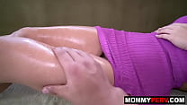 Stepmom asks son for massage