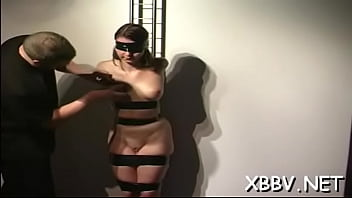 Lusty maid is masturbating during the day