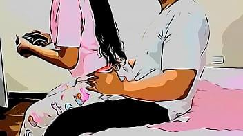 Mi Sobrina Quiere que la Enseñe a Jugar Juegos de Vídeo y Yo la Enseño Sentada en mis Piernas - Ese día Me Aproveche de mi Sobrina Versión Cartoon