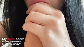 super close up blowjob, you can almost touch these lips