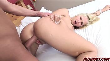 Hot blonde Sarah trash talks her way to a Big Cock Fuck