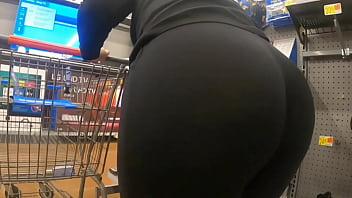 Mom At Walmart See Through Huge Booty Wedgie