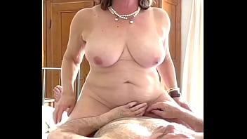 Chubby mature milf passionately fucks cowgirl two ways 3 min