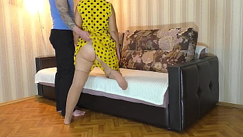 Hungry son fucked mom's ass in anal 9 min