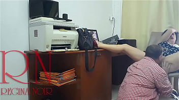 Lady boss and employee Pussy lick Do you want to be my employee? Hidden camera in office 2