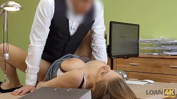 LOAN4K. Kinky girlfriend cheats in order to get a loan from the back
