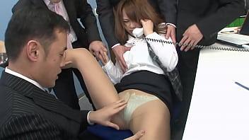 Japanese secretary get fucked from all meeting members, full uncensored JAV movie 77 min
