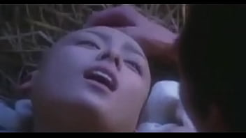 bald chinese lady fucked in the forest by a dude. she has her tits and pussy eaten out by the guy and she enjoys it very much. she even blows him for short while