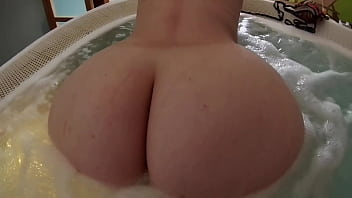 Big round ass escort girl rides my cock in the jacuzzi!