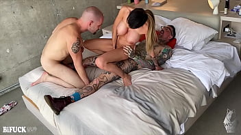 Mckenzie Lee has a Bisexual MMF Threesome with Two Guys!