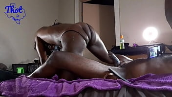 Thot in Texas - Threesome 2 girls fuck a guy Pretty Round Bareback Creampie Pound The round Fat African American Ebony Slim Ass