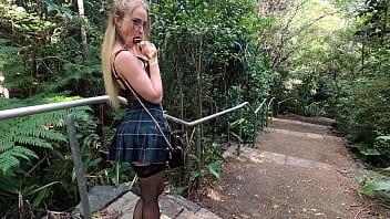 SecretCrush4K - Risky Flashing, Anal, Squirting & Blowjob In Public Park 26 min
