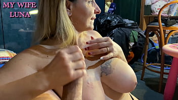 Luna has fun with a fan on cam before giving me a good blowjob and getting her ass fucked good