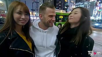 Sexy japanese girls Mona Ayami and Tsubaki Kato goes to the love hotel 15 min