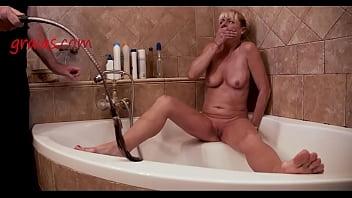 Bullwhipping in Bathroom