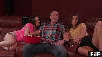 FILF - Liza And Lily Jordan Get Wild With Their Stepdaddy