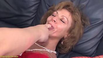 ugly 76 years old grandma first deep anal