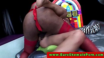 Euro tranny shemale ass drilling dude