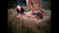 Amateur submissive wife used by strangers outdoor 5 min
