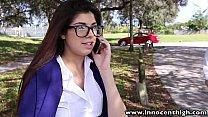 InnocentHigh Hot schoolgirl Ava Taylor in nerdy glasses fucked hardcore 8 min