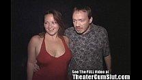 MILF Makes Every Man in Porn Theater Cum 5 min