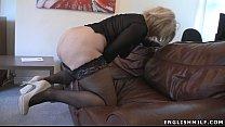 Big ass British milf in stockings with vibrator 2 min
