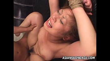 Tied up Asian babe gets fucked long and hard 5 min