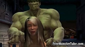Foxy 3D babe gets fucked by The Incredible Hulk-high 2 3 min