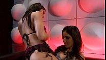 Lesbian stripper seduces girl