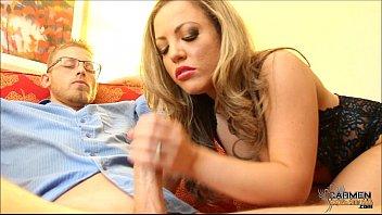 Slutty Carmen Valentina Strokes Bible Man's Cock