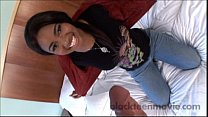 Hot ebony teen amateur gets banged by white cock in Big Booty Black Girl Porn 8 min