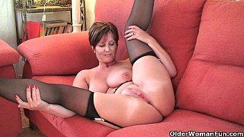 British milf Joy exposing her big tits and hot fanny 17 min