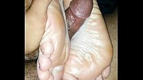 reverse solejob and cumshot