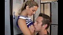 Cute cheerleader chick laid in the locker room 16 min