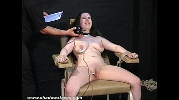 Electro t. bbw in harsh stool bondage and severe suffering of fat slave