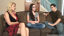 Hot wife Charlee Chase breaks in the horny teen babysitter 11 min