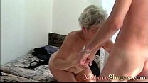 Mature female gets young cock 9 min