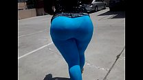 bigbubblingbooty in blue spandex