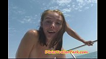 Milf and Teen Daughter FUCK on Daddys BOAT 9 min