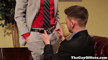 Gay uniform hunks blow their loads