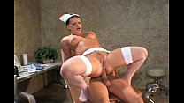 Nurse fucking in stockings and uniform