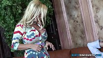 Cougar babe facialized by her sons friend