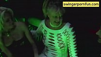 Real Swinger Hotwives meet in an Orgy bus and have fun with random Men